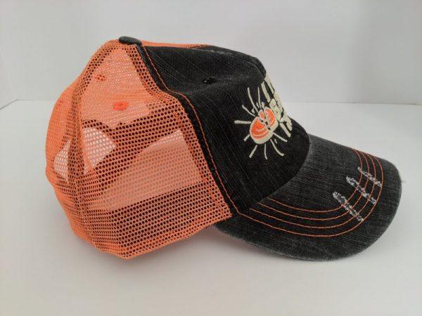Skeet Shooting Hats - Orange & Black Hunting Caps - I YELL & BREAK THINGS Design