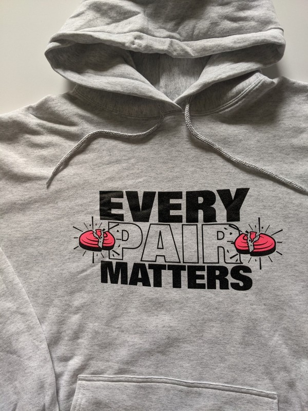 Breast Cancer Hoodies For Clay Shooting - EVERY PAIR MATTERS Fundraising Hoodies