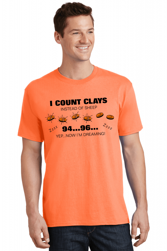 Clay Shooting Lounge T Shirts - Counting Clays Instead of Sheep Tees