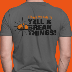 Coaches Shirts Personalized For Clay Shooting - I Teach My Kids To Yell & Break Things Parent T-Shirts