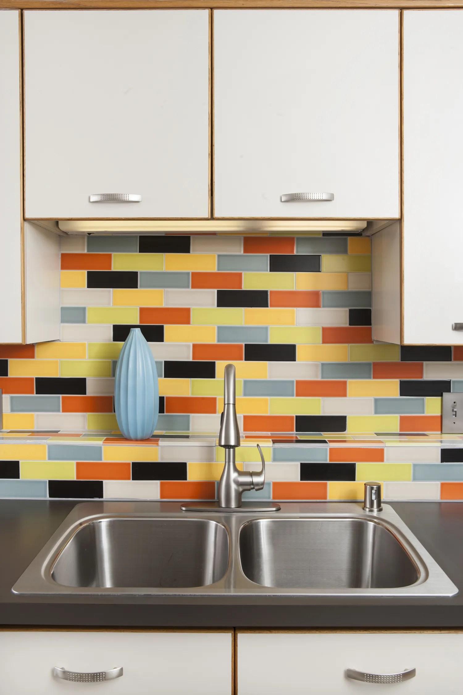 Atomic Bond Mid Century Modern Tile Kitchen Backsplash