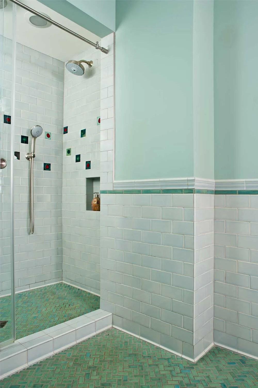 skyline mid century bathroom tile