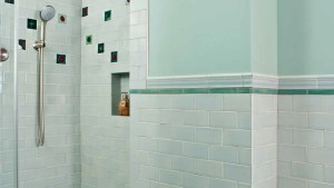 Skyline Mid Century Tile Bathroom, Mixing Historic And