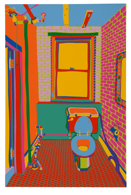 The toilet in the artist's studio on Broome Street by Clayton Pond