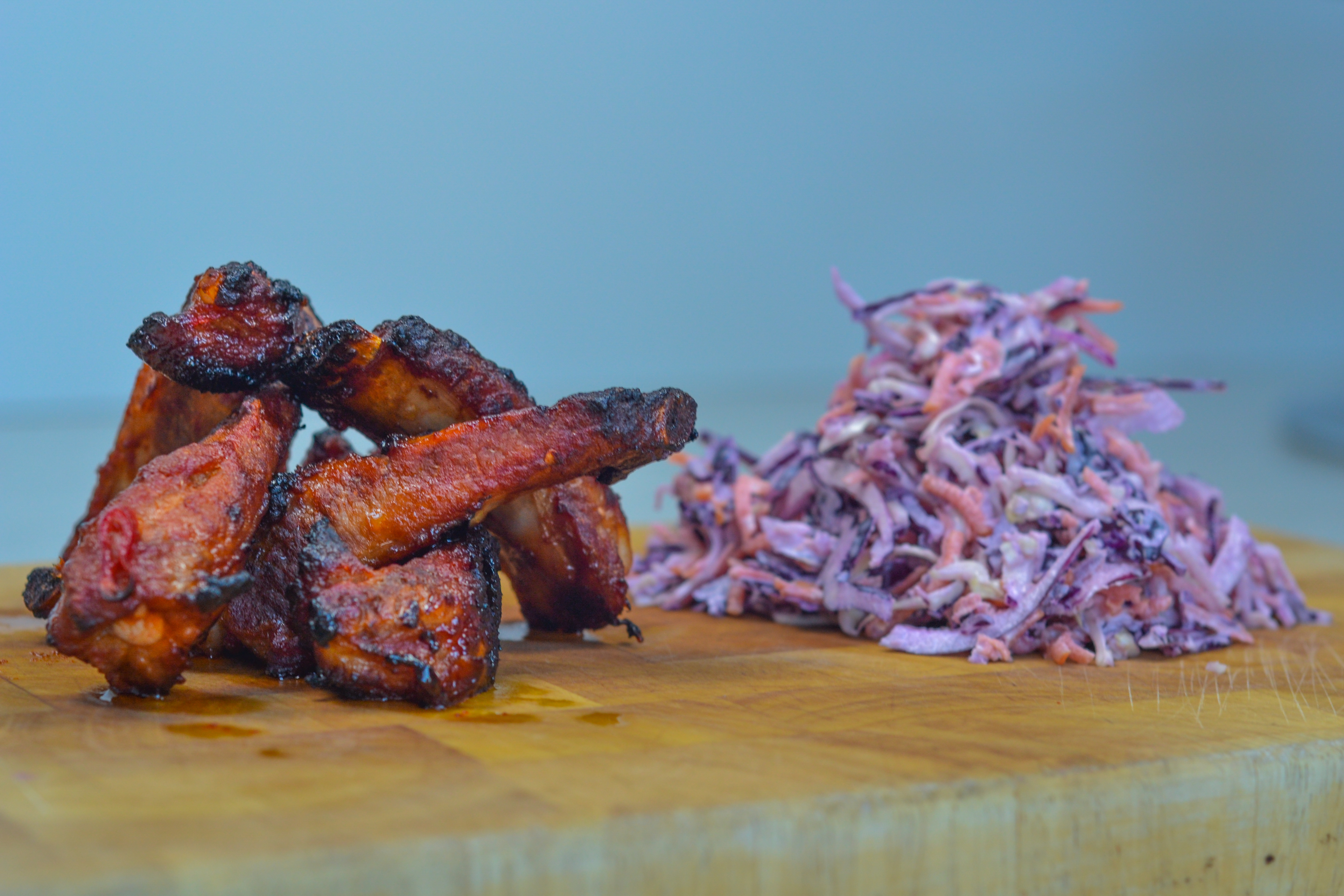 Spicy Maple Ribs & Homemade Coleslaw