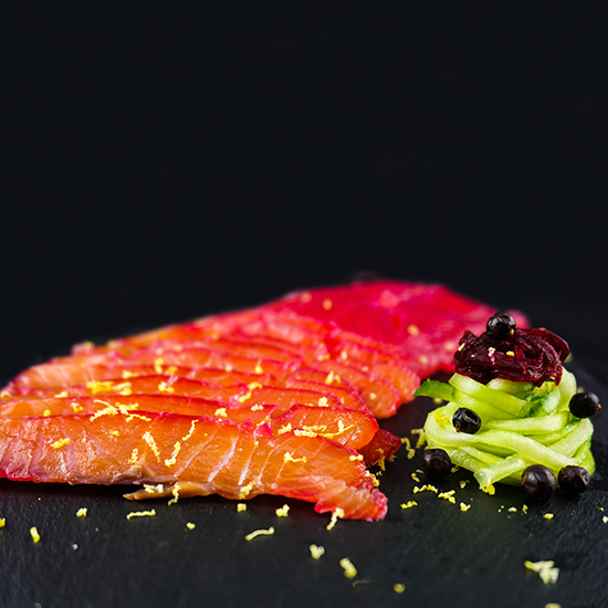 Beetroot Gin Salmon Gravlax