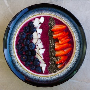 Strawberry & Blueberry Smoothie Bowl