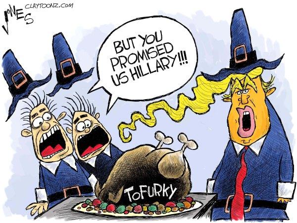 Thanksgiving Political Cartoons Trump