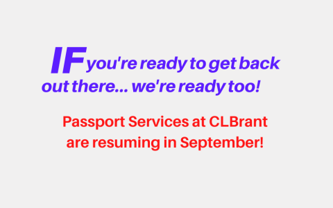 Passport Services (IF) Resuming In September