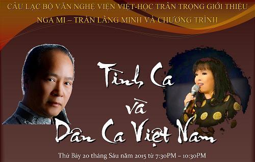 """đêm nhạc thính-phòng Nga Mi & Trần Lãng Minh """"Dân Ca Và Tình Ca Việt Nam"""