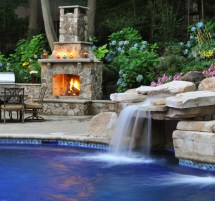 Custom Swimming Pool With Grotto And Waterfall