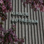 Grace Lutheran Church side of building leters