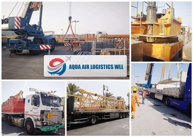Aqua Air Logistics moved a dismantled tower crane from Bahrain Airport Construction Site to Jeddah, KSA