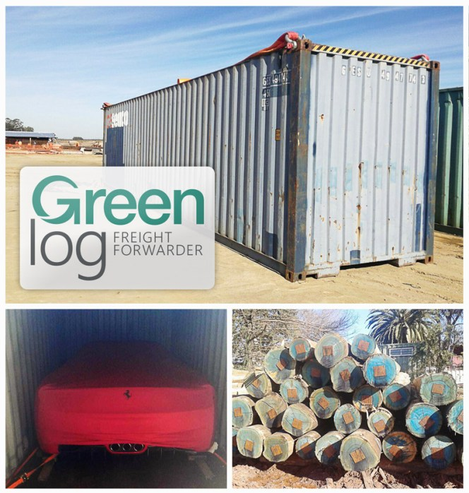 Greenlog has handled a variety of intersting cargo in the last few weeks, from a Ferrari to logs and a cement plant for FLSmidth