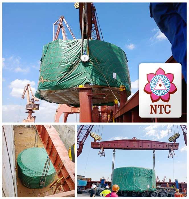 NTC Logistics shipped a 300mt reactor ex-Shanghai to Ennore