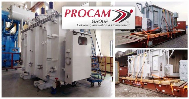 Procam ships a power transformer with dimensions 5.4m x 2.29m x 3.17m weighing 27mt along with oil drums & 25 other accessories from Mumbai to Tema, Ghana