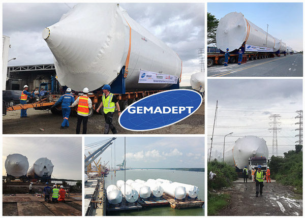 Gemadept finished the delivery of 20 out of 44 tanks for Heineken beer in Phu My, Vietnam