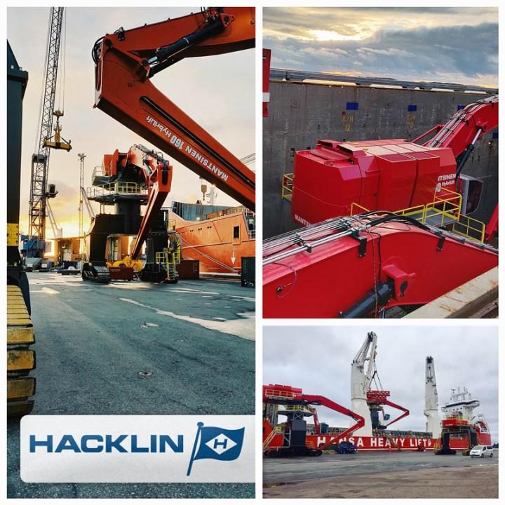 Hacklin Logistics handled heavy-lift cargo for Mantsinen via Hansa Heavylift ex-Finland