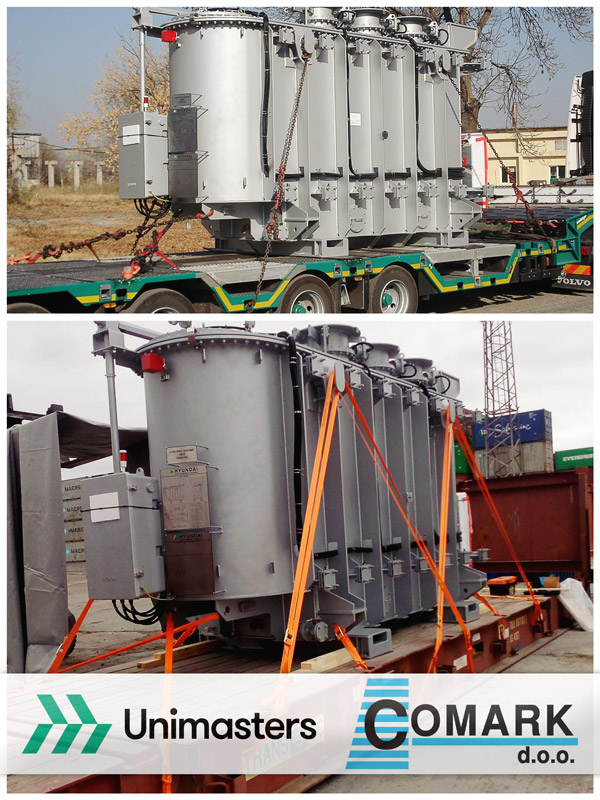 Comark and Unimasters joined efforts to arrange the export of a transformer from Bulgaria to UAE