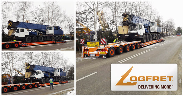 Logfret Poland transported a truck crane from Gdynia to Lome Port, Togo