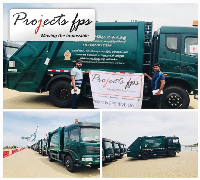 Projects FPS Handled 100 Units of Garbage Trucks in Port of Hambanthota, Sri Lanka