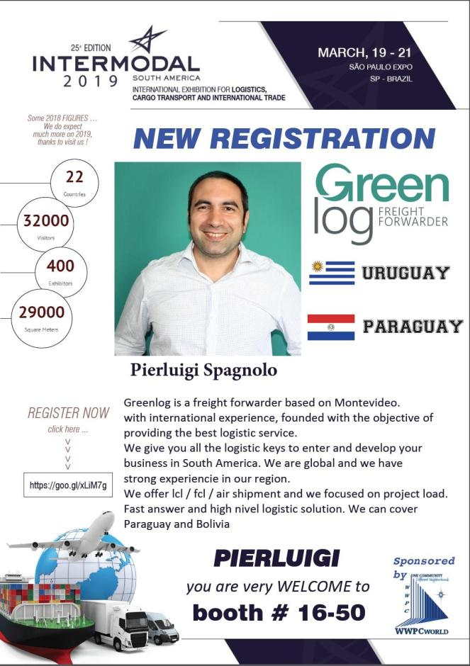Greenlog will attend Intermodal South America
