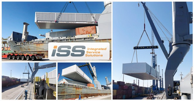 Iss gf           spa loaded the last of 10 breakbulk pieces loaded in Livorno           port onboard MV Daisy
