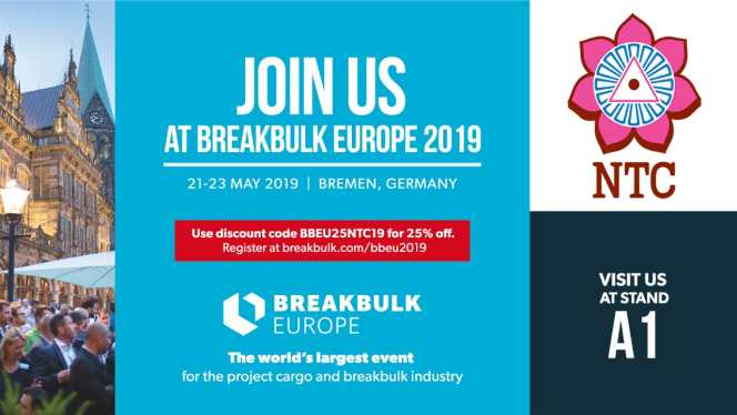Visit NTC Logistics at their own stand A1 at this years Breakbulk EU