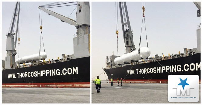 M-Star Projects Loaded 9600 cbm of Equipment for Stockton USA in Jebel Ali