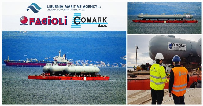 Comark & Liburnia Assisted Fagioli on a Pressure Vessel Project Transport
