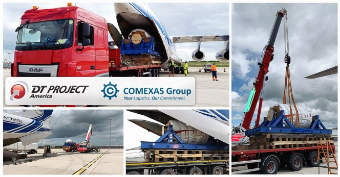 Joint Outsized Air Freight Project of 34mt Power Generation Equipment by DT Project America and COMEXAS Seafreight