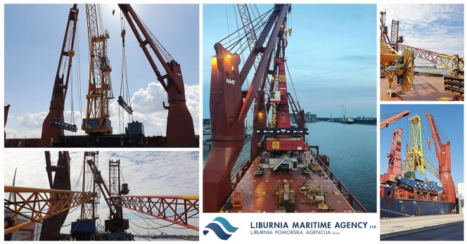 Liburnia Breda Office Loaded Two Mobile Harbour Cranes Each Upto 360mt in Antwerp and Ghent for Umm Qasr