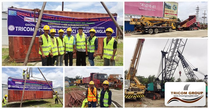 Tricom Handling a Water Treatment Plant Project to Dhaka