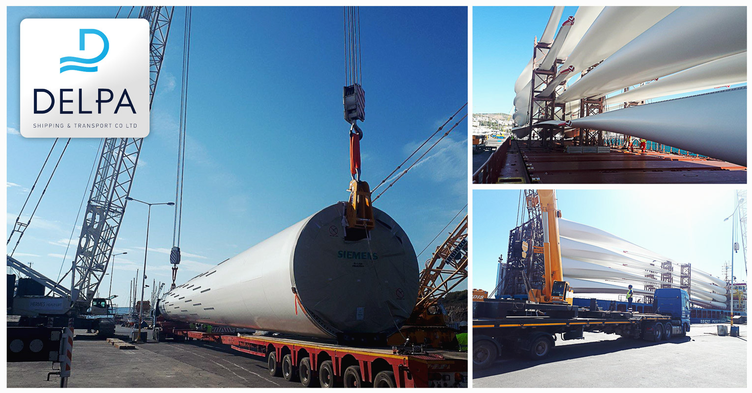 Delpa Shipping & Transport Co Ltd - Wind Turbine Transport Projects