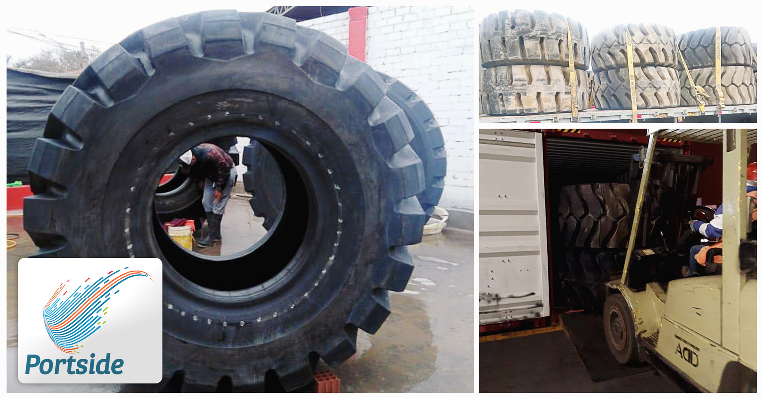 Portside Handled Tyres from Peru for a Customer in Ghana
