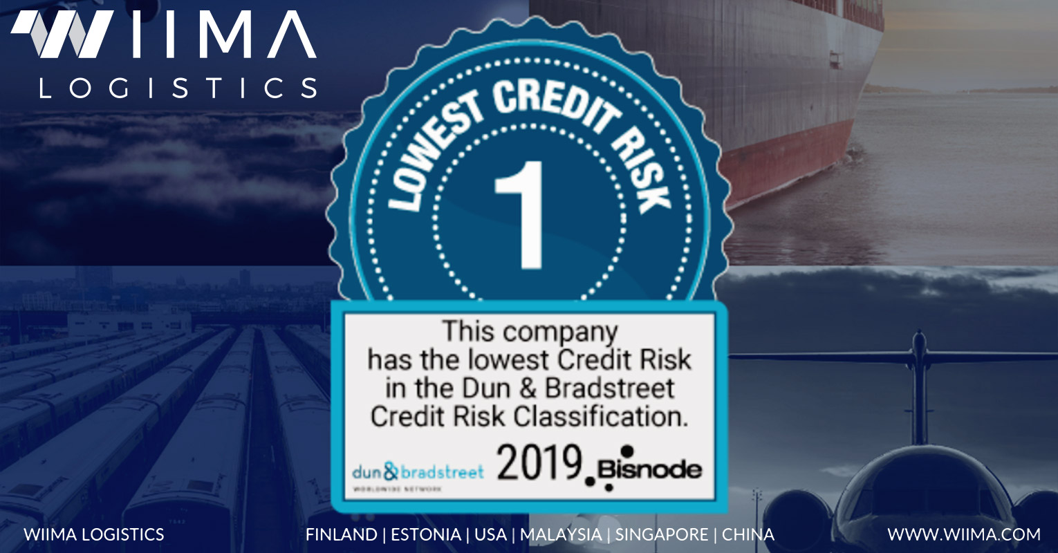 Wiima Logistics Recived the Best Possible Score from Dun & Bradstreet Credit Risk Classification