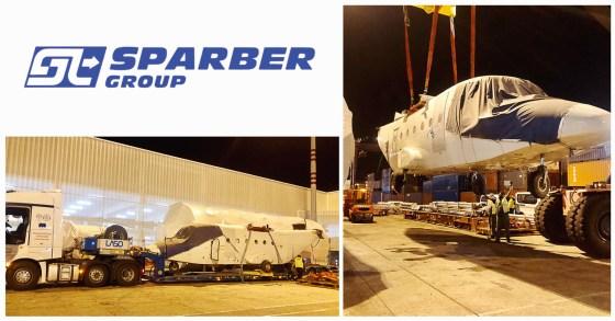 Sparber Handled an Airplane Mombasa - Barcelona - Zeebrugge - USA