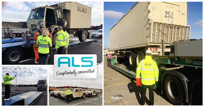 ALS Successfully Move 900 Military Vehicles