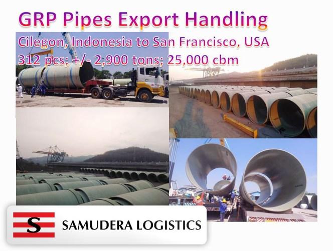 Silkargo Indonesia handled 312 pcs / 2,000 tons / 25,000 cbm from Cilegon, Indonesia to San   Francisco, USA
