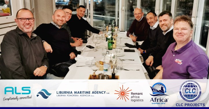 CLC Projects with Remnant Africa Logistics, Africa Shipping Gate, ALS Belgium and Liburnia Maritime Agency in Opatija, Croatia