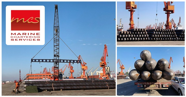 Marine Chartering Services Shipped 20m Long Pipes