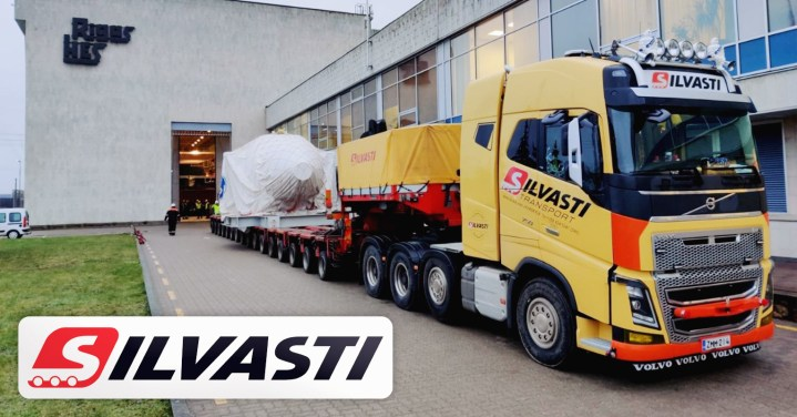 Silvasti Successfully Transported a Rotor Hub from Riga Port to Riga's Hydroelectric Power Plant
