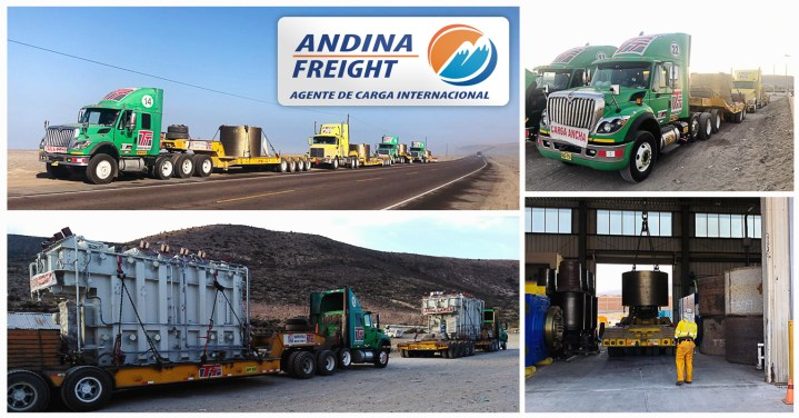 Andina Freight Peru Handled 4 Rollers Weighing 70 Tons Each from Italy to Matarani Peru Including Positioning on Site