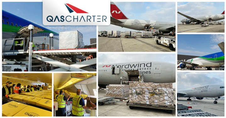 QAS Air Charter is Operating PAX Aircraft to Deliver Medical Equipment to Europe and the Middle East, Mainly from China