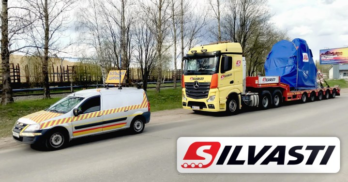 Silvasti Transported a 36 Ton Motor from Finland to Svetogorsk, Russia on their Own Multi-Axle Trailer
