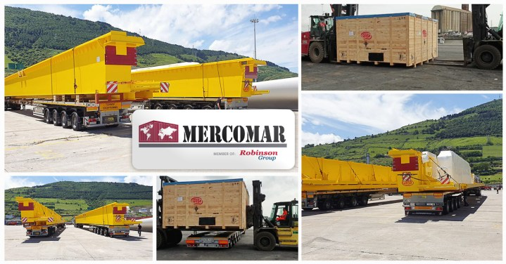 Mercomar (Robinson Group) Transported the First of Seven Gantry Cranes from Spain to Mexico