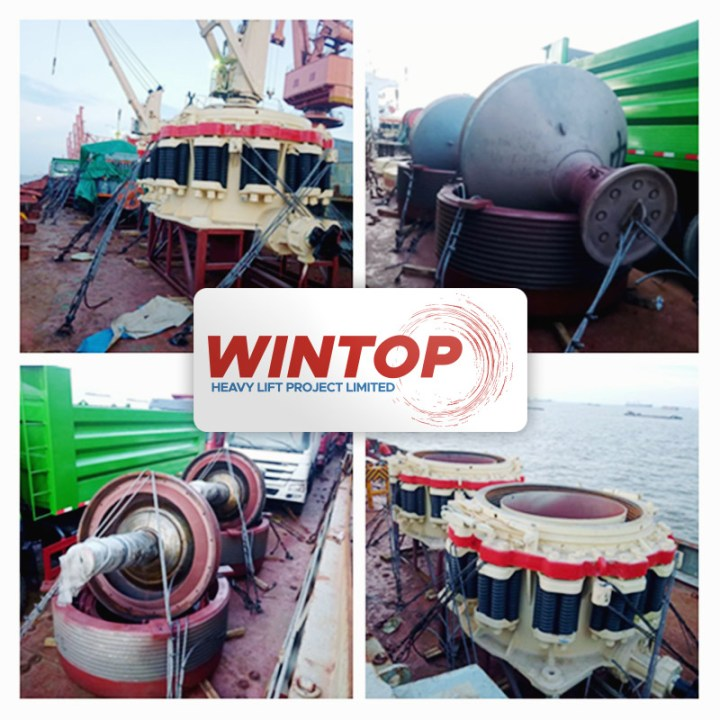 Wintop Heavy Lift Shipped 6-pkgs Totalling 144-tons from Shanghai to Tema