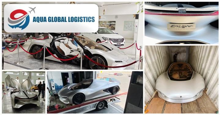 Aqua Global Logistics Transported a Work of Art, the GAC Motor Enlight Concept Car