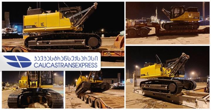 Caucastransexpress Transported an Excavator from Poti, Georgia to Baku, Azerbaijan