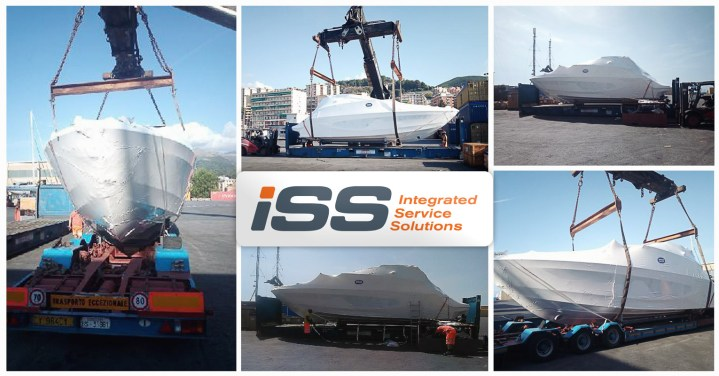 Iss Global Forwarding Performing Lashing and Securing for Small Boat in Genova Port